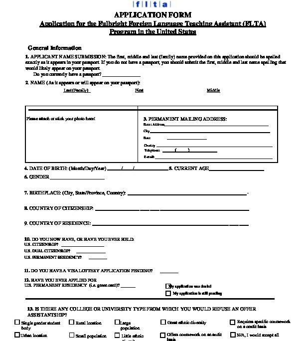 2018 Flta Application Us Embassy In Burma